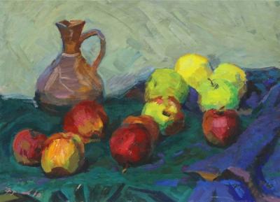 Картина «Натюрморт с яблоками»
