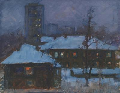 Рисунок «Зимняя ночь»