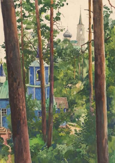 Рисунок «Пушкинские горы»