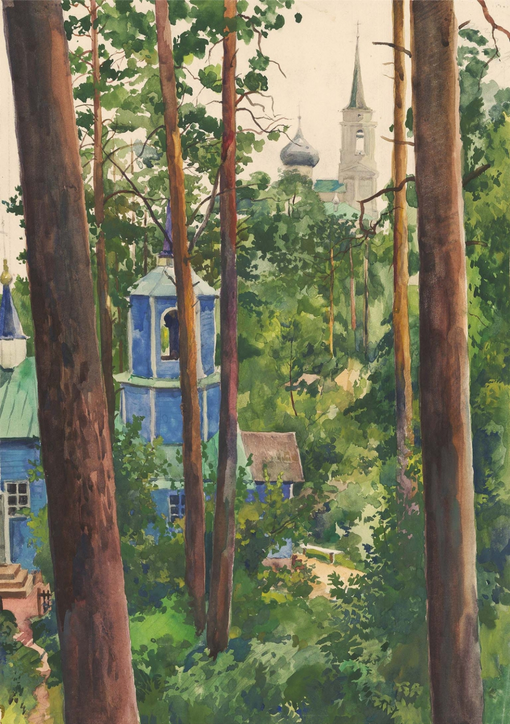 Акварель «Пушкинские горы»