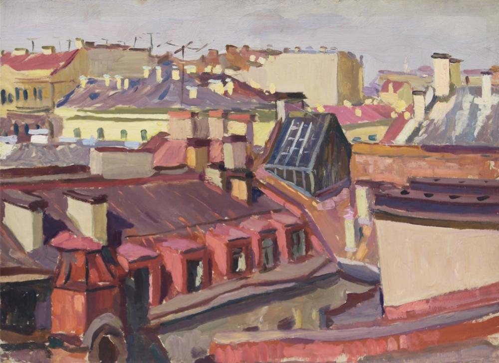 Картина «Ленинград. Крыши на Мойке»