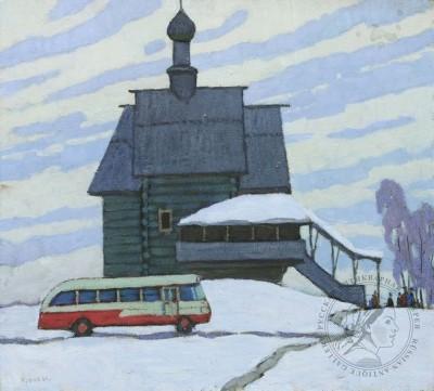 Картина «Туристы в Суздале»