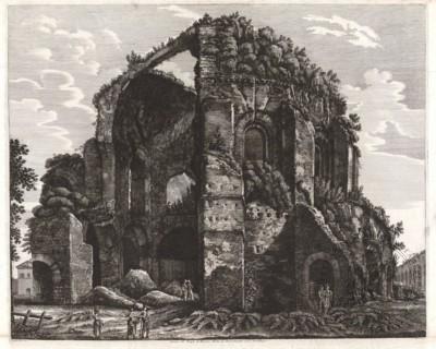 Гравюра «Храм Минервы»