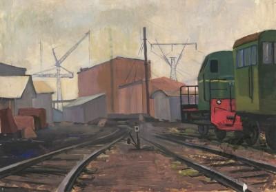 Темпера «Железнодорожный тупик»