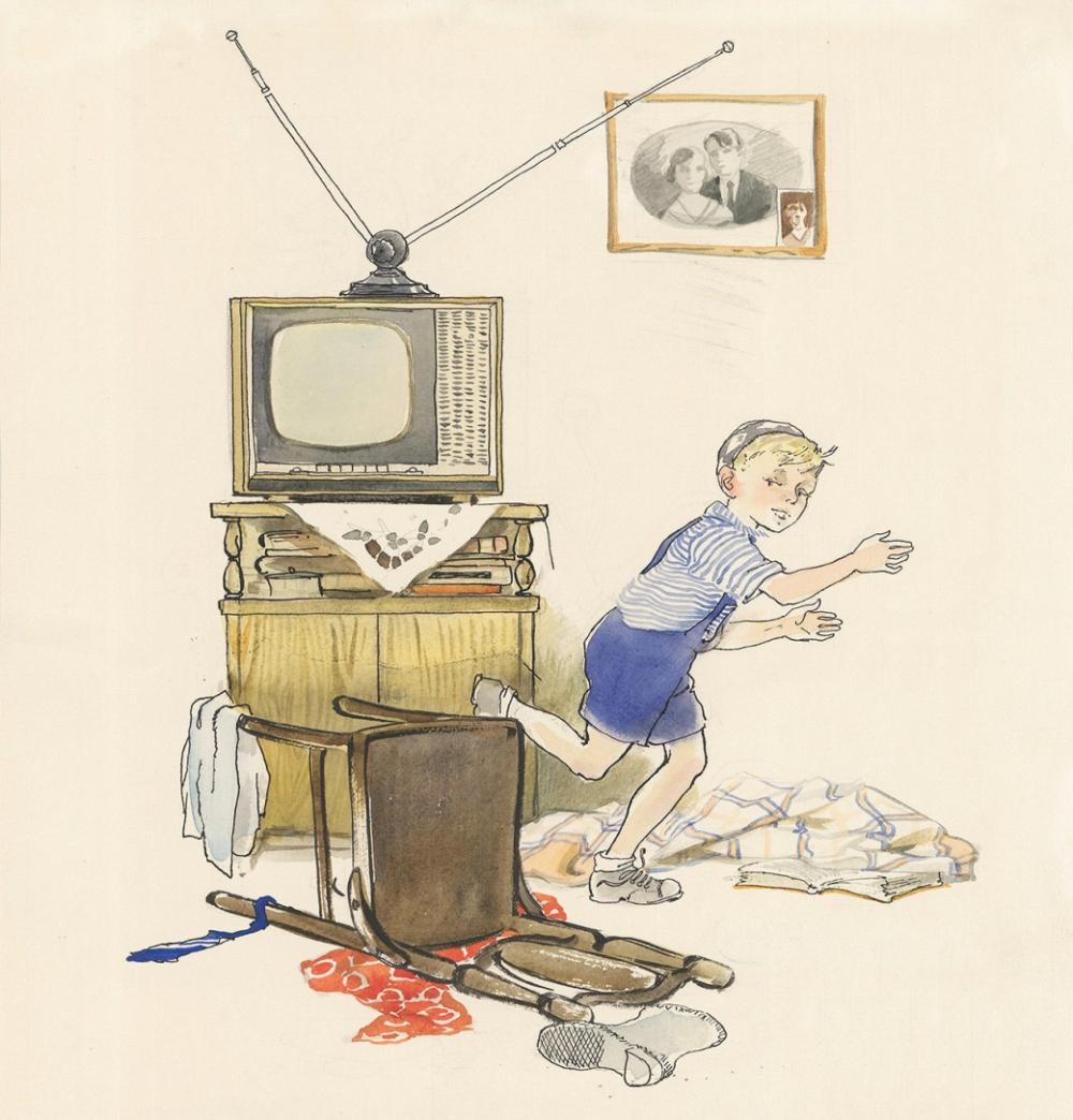 Вариант иллюстрации к рассказу Н.Носова «Находчивость»