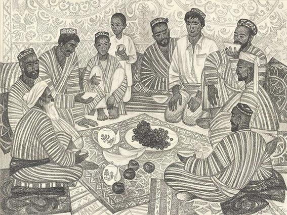 Рисунок «Праздник. Мужчины