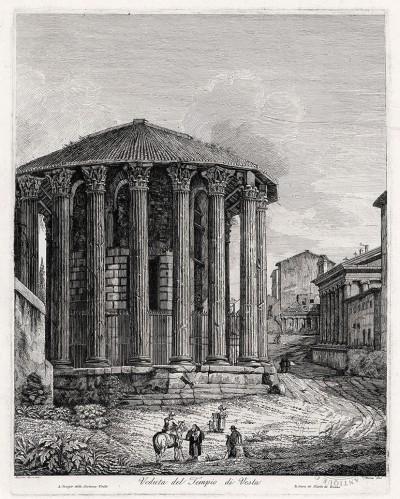 Гравюра «Храм Весты»