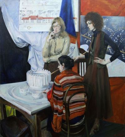 Картина «В мастерской архитектора»