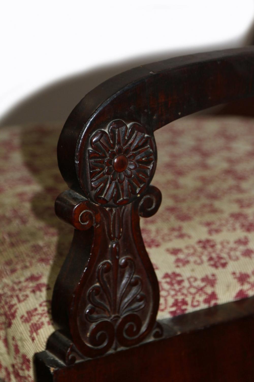 Пять кресел красного дерева в стиле Ампир