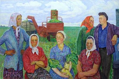 Картина «Передовые свекловоды колхоза им.Энгельса»