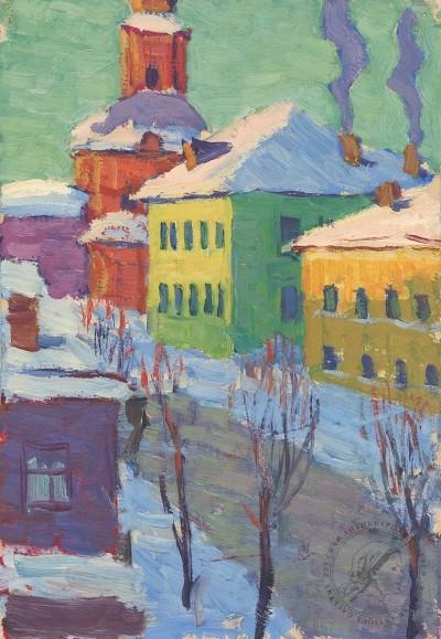 Этюд «Зима во Владимире»