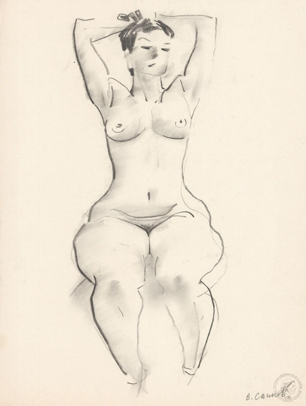 Рисунок из серии «Обнаженные модели»