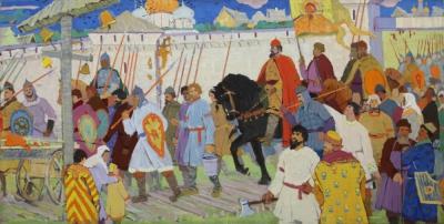 Картина «Въезд Александра Невского во Владимир»