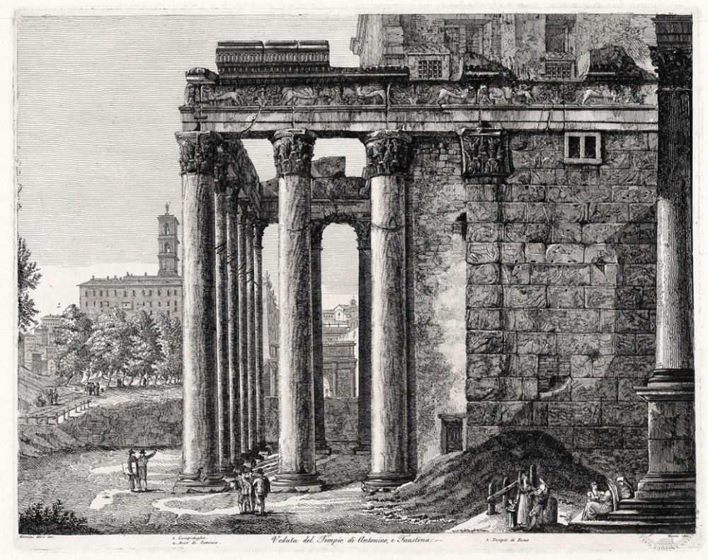 Гравюра «Храм Антонина и Фаустины»