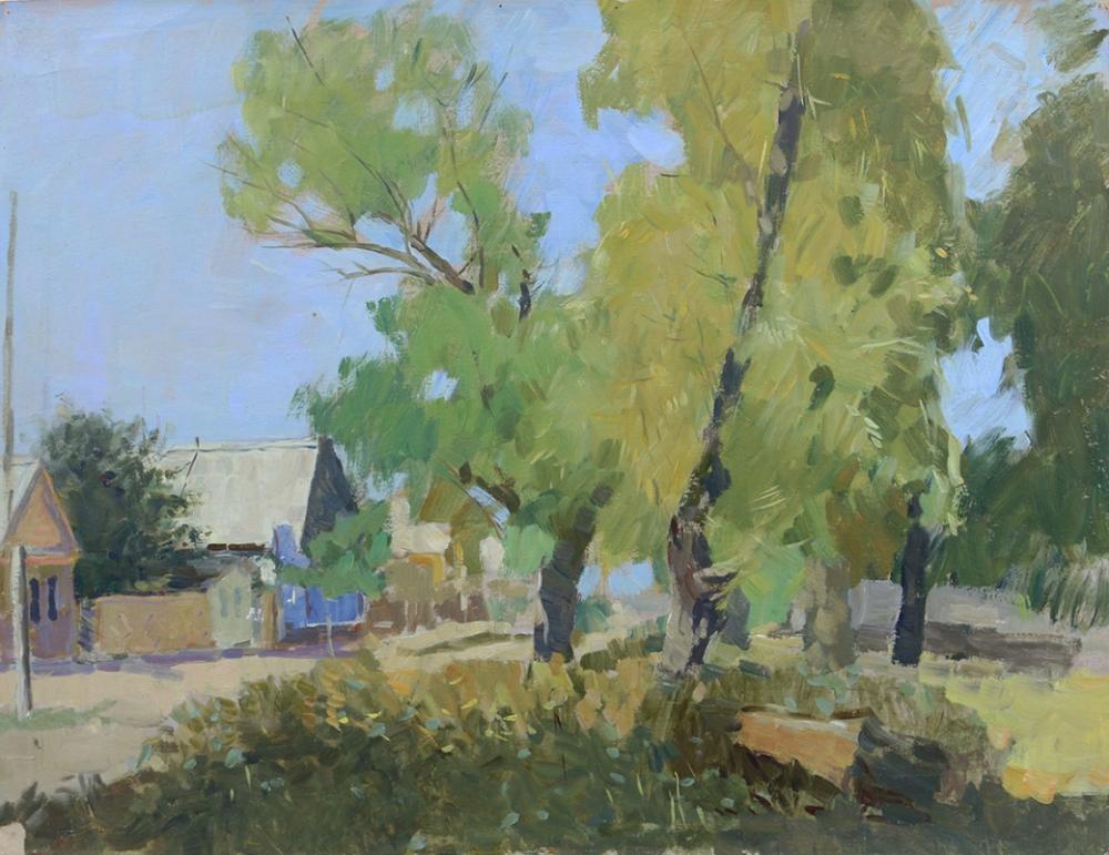 Пейзаж «Село Полдневое под Астраханью»