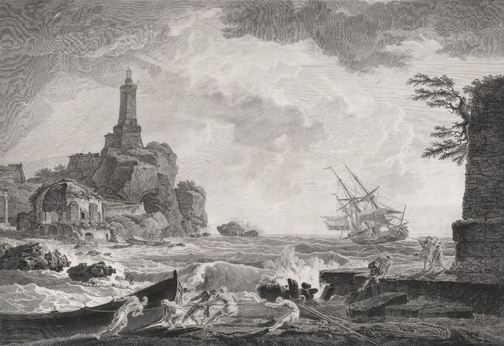 Гравюра «Возвышающийся маяк» (фр. «Le Fanal Exhausse»)