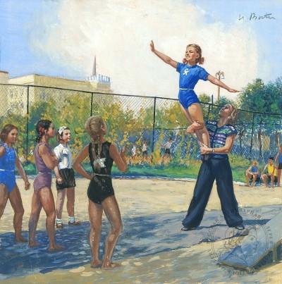 Гуашь «Юные гимнастки»