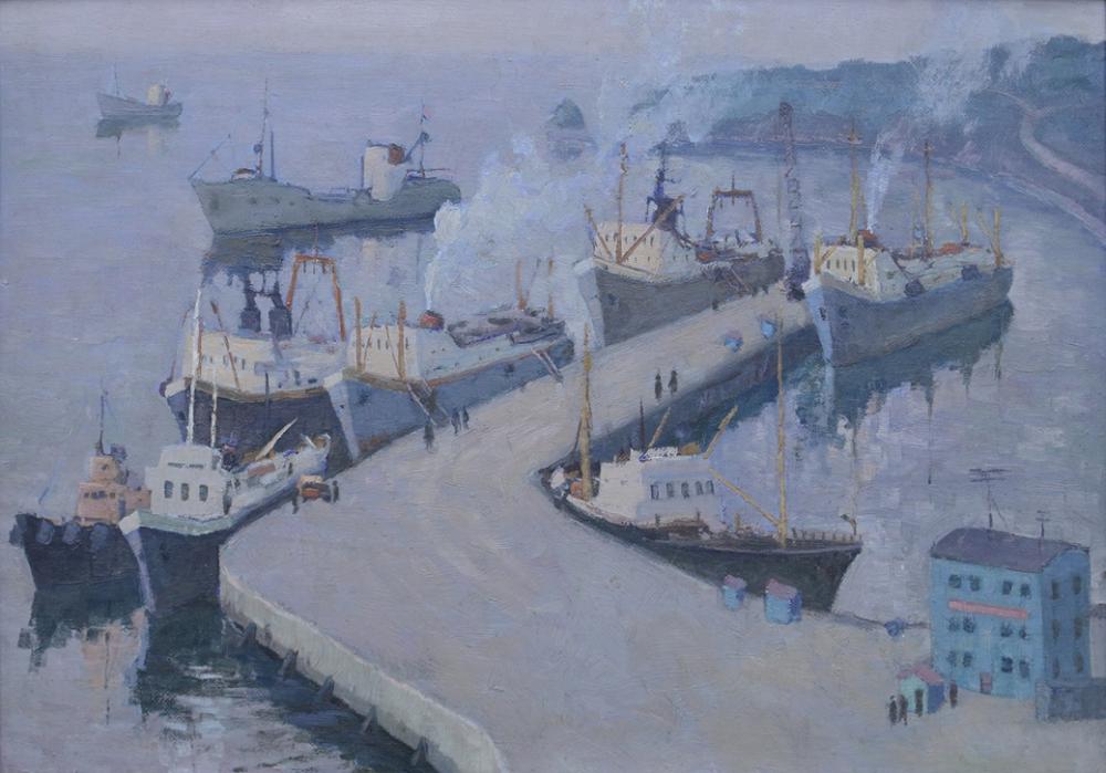 Картина «Петропавловск-Камчатский. У причала Сероглазки»