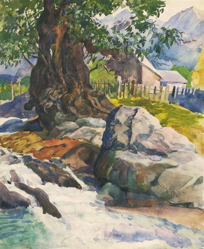 Рисунок «Красная Поляна. Река Бешенка»
