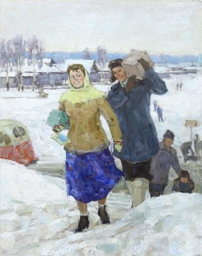 Картина «Сельский библиотекарь»