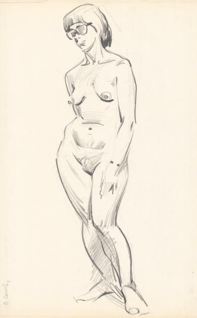 Рисунок №18 из серии «Обнаженные модели»