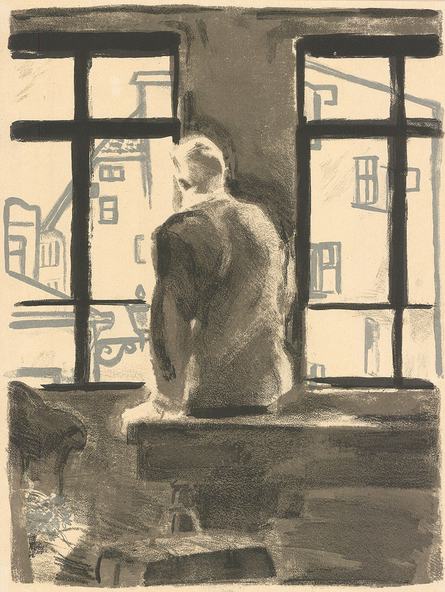 Литография «У окна»