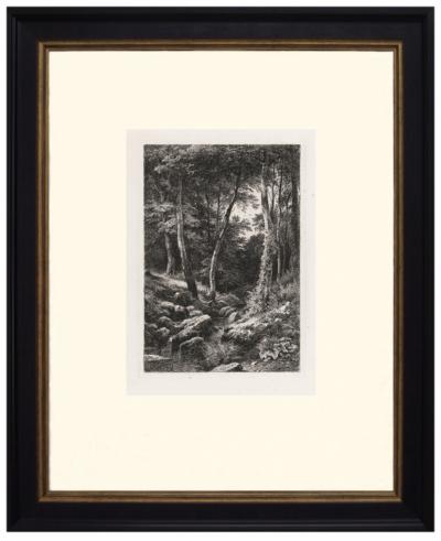 Офорт «Ручей в лесу»
