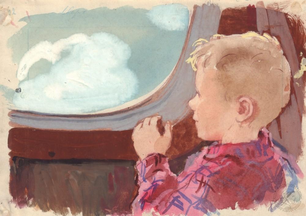 Рисунок «Первый полет»