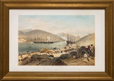 Литография «Вид набережной в Балаклаве»