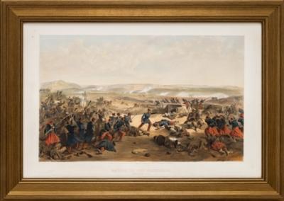 Литография «Сражение на Чёрной речке»