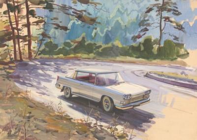 Рисунок «Летняя дорога»