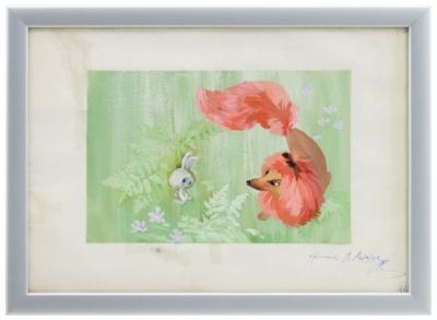 Иллюстрация «Зайчонок и лисица»