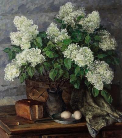 Картина «Натюрморт с белой сиренью»