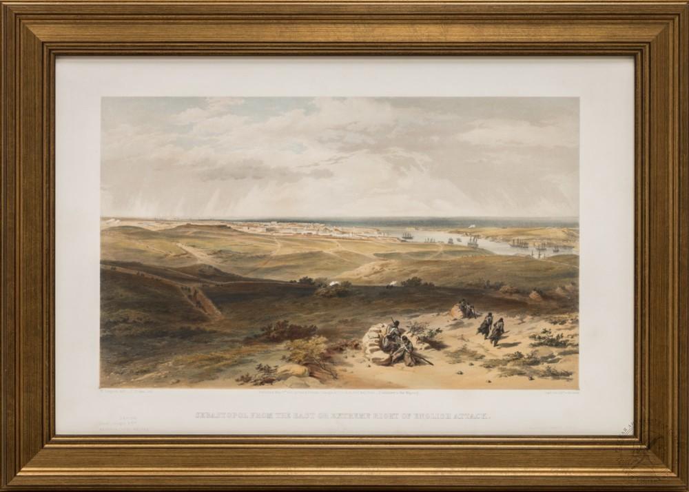 Литография «Вид на Севастополь с востока или правого фланга английских позиций»