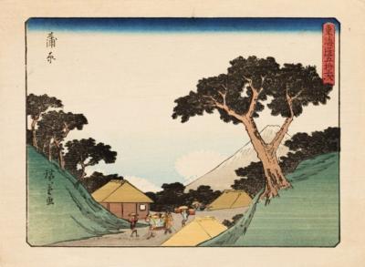 Ксилография «Канбара» из серии «Пятьдесят три станции Токайдо»