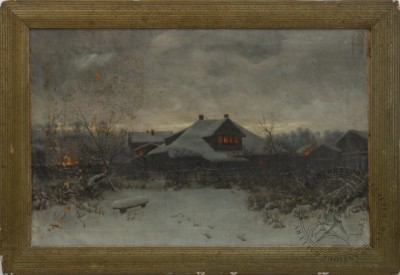 Картина Зимний вечер Бажин