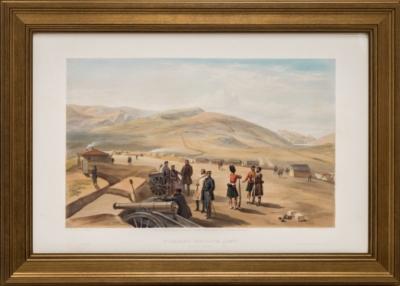 Литография «Вид с юга на полевой лагерь шотландской бригады и линию оборонительных сооружений союзников»