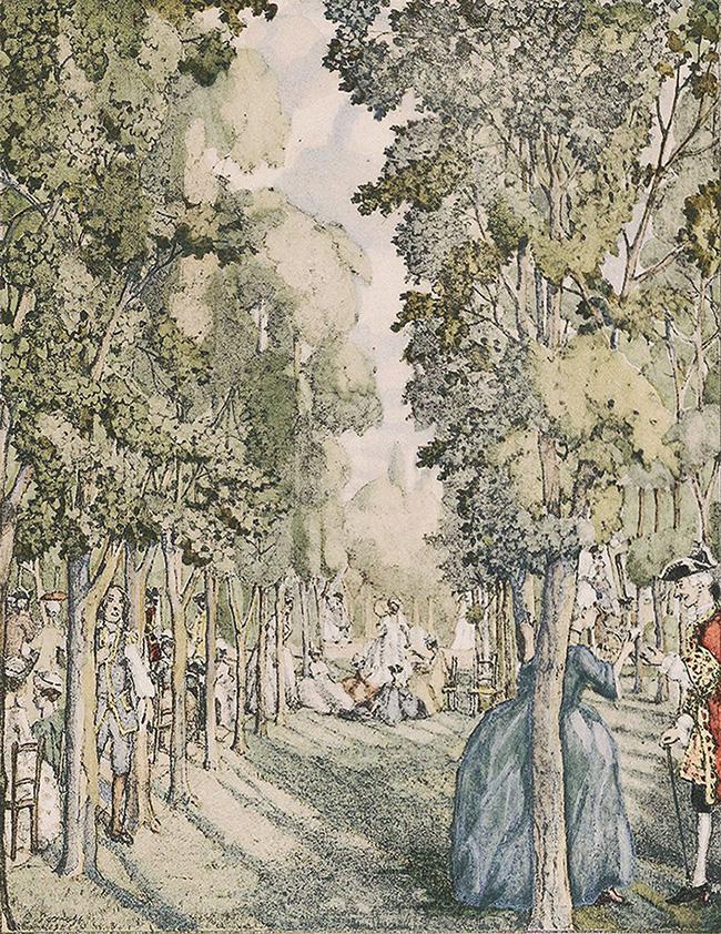 Иллюстрация к роману Аббата Прево «История кавалера де Грие и Манон Леско»