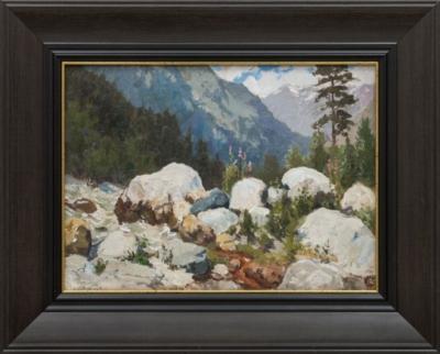 Картина «Кавказ. Ущелье Адыл-Су»
