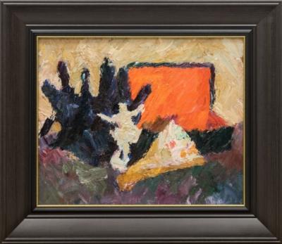Картина «Натюрморт с фарфоровой фигуркой»