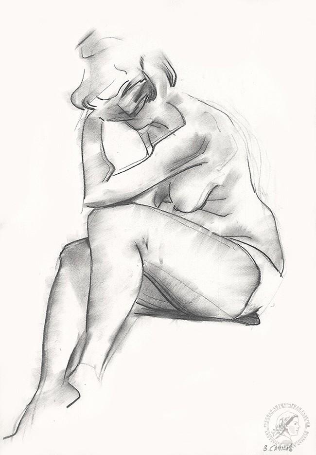 Рисунок №48 из серии «Обнаженные модели»