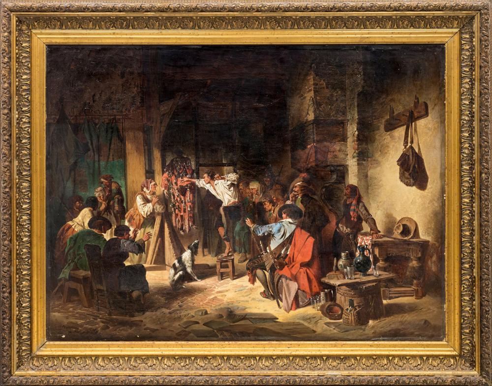 Копия с картины И. Матийзена «Школа воров»