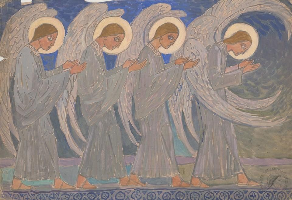 Акварель «Ангелы»