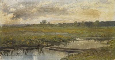 Маковский А.В. Пейзаж с озером