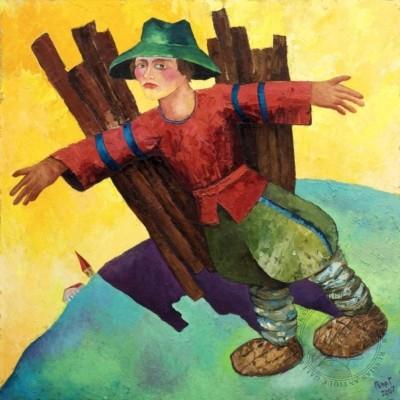 Картина «Сельский авиатор»
