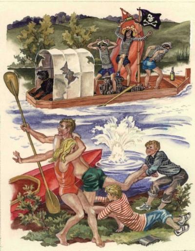 Иллюстрация «Пираты» к книге Митяева А.В. «Из дневника Вовика Башмакова»