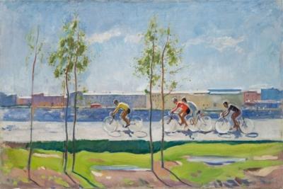 Картина «Велогонка на набережной»
