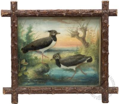 Объемная композиция с птицами