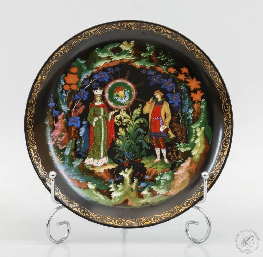 Тарелка декоративная «Каменный цветок»