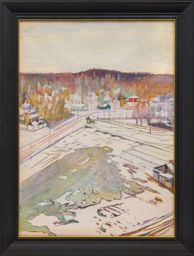Рисунок «Зимняя деревня»
